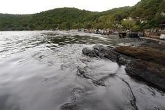 Thailand-milieu-olie-VERONTREINIGING Stock Fotografie