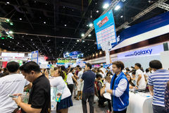Thailand Mobile Expo 2015 Showcase The largest Event Mobile in the country Royalty Free Stock Image
