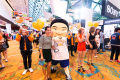 Thailand Mobile Expo 2015 Showcase The largest Event Mobile in the country Stock Photo