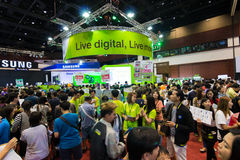 Thailand Mobile Expo 2015 Showcase The largest Event Mobile in the country Stock Image