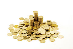 Thailand money coins heap Royalty Free Stock Images