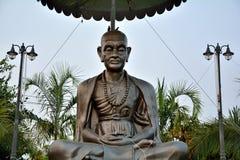Thailand monks sitting  sculpture metal Royalty Free Stock Photos