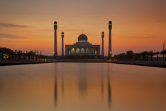 Thailand mosque. Beautiful sunset at the mosque in Songkhla,Thailand Royalty Free Stock Image