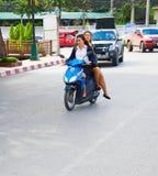 Thailand motrobike riding Stock Images