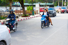 Thailand motrobikeridning Royaltyfria Foton