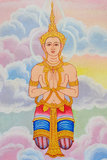 Thailand Mural Ancient Angel. Mural Ancient Angel In Thailand Stock Image