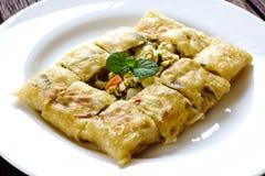 Thailand muslim food Martabak or murtabak, arabian stuffed bread Royalty Free Stock Images