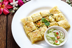 Thailand muslim food Martabak or murtabak, arabian stuffed bread Stock Photo