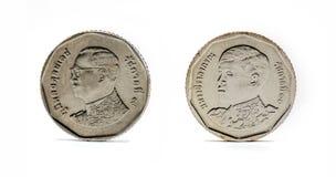 Thailand mynt, baht fem royaltyfri bild