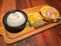 Thailand-Nachtisch-Kokosnuss-Kürbis-Bonbon lizenzfreies stockbild
