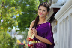 Thailand National Costume Stock Images