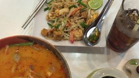 Thailand national dishes stock video footage