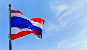 Thailand national flag Royalty Free Stock Photo