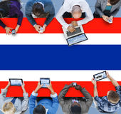 Thailand National Flag Government Freedom Liberty Concept Stock Photo