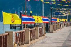 Thailand national flag,Phi Phi island Royalty Free Stock Image