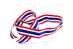 Thailand National Flag Ribbon Royalty Free Stock Photos