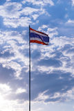Thailand national flag staff and sky background stock photo