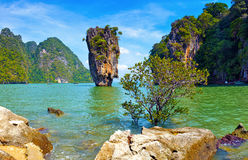 James Bond island view tropical landscape Stock Photos