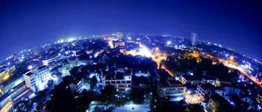 Thailand night view from building Stock Image