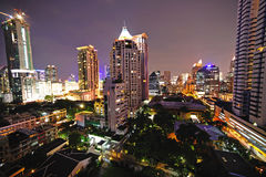 Thailand  night view of the city of Bangkok Stock Photos
