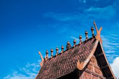 Thailand northern antique roof Royalty Free Stock Images