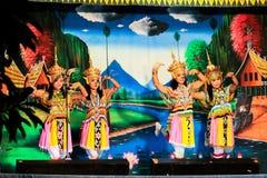 Thailand - November 6 :group of women show manora dance Stock Image