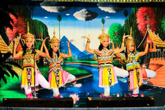 Thailand - November 6 :group of women show manora dance Royalty Free Stock Photography