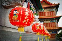 THAILAND - 27. NOVEMBER 2015: Traditioneller und der Architektur der chinesischen Art Tempel, Nonthaburi im September 2012 bei Wa Lizenzfreie Stockbilder