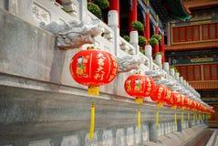 THAILAND - 27. NOVEMBER 2015: Traditioneller und der Architektur der chinesischen Art Tempel, Nonthaburi im September 2012 bei Wa Stockfotos