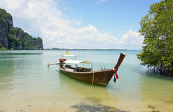Thailand ocean landscape with boat Stock Photography
