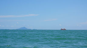 Thailand ocean landscape with boat Royalty Free Stock Photos