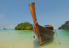 Thailand ocean landscape with boat Royalty Free Stock Photography