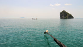 Thailand ocean landscape with boat Royalty Free Stock Photo
