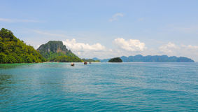 Thailand ocean landscape with boat Stock Images