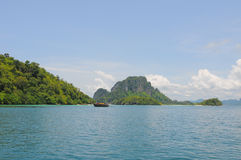 Thailand ocean landscape with boat Stock Photos