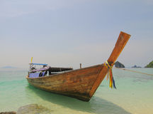 Thailand ocean landscape with boat Royalty Free Stock Images