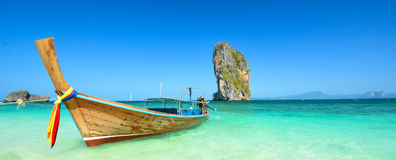 Thailand ocean landscape with boat Royalty Free Stock Image