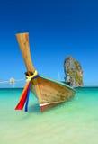 Thailand ocean landscape with boat. Thailand ocean landscape with traditional boat Royalty Free Stock Photos
