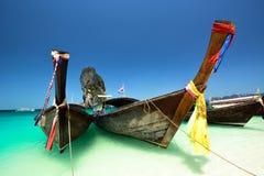 Thailand ocean landscape with boat. Thailand ocean landscape with traditional boat Stock Photos