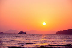 Thailand ocean landscape with boat. Thailand ocean landscape with traditional boat Royalty Free Stock Image