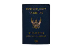 Thailand Official Passport Isolated on White. Background Royalty Free Stock Image