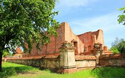 Thailand. The old temple ancient city at Ayutthaya Thailand Royalty Free Stock Photo