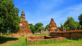 Religion. The old temple ancient city at Ayutthaya Thailand Stock Photo