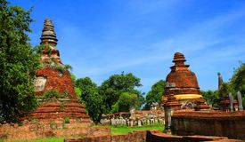 Temple. The old temple ancient city at Ayutthaya Thailand Royalty Free Stock Image