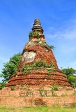 Temple. The old temple ancient city at Ayutthaya Thailand Royalty Free Stock Photography