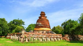 Temple. The old temple ancient city at Ayutthaya Thailand Stock Photography