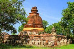 Temple. The old temple ancient city at Ayutthaya Thailand Royalty Free Stock Photo