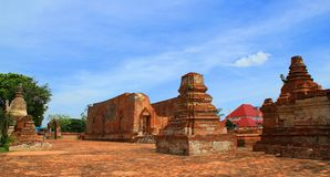Temple. The old temple ancient city at Ayutthaya Thailand Royalty Free Stock Images