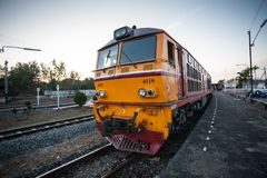 Old train in Thailand royalty free stock photography