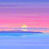 Thailand-Ozeannatur im Sonnenuntergang Lizenzfreie Stockfotos